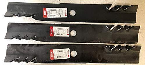"3 HD G6 Gator Style Hi Lift Blades 60"" Exmark 103-6403 103-6403-S Tungeston Tip"