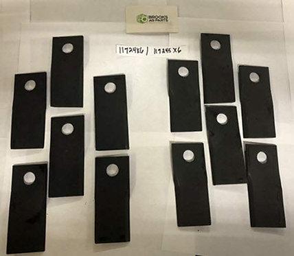 Disc Mower Blade, 6 Each (50.8 mm) X (120 mm) X (18.5 mm) for Fella