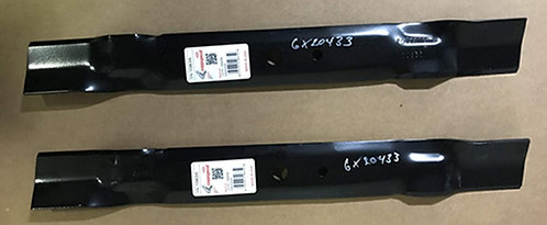 """Set of Two Replacement Blades for 42"""" Cut John Deere Mowers with 0.67"""" Round Cen"""