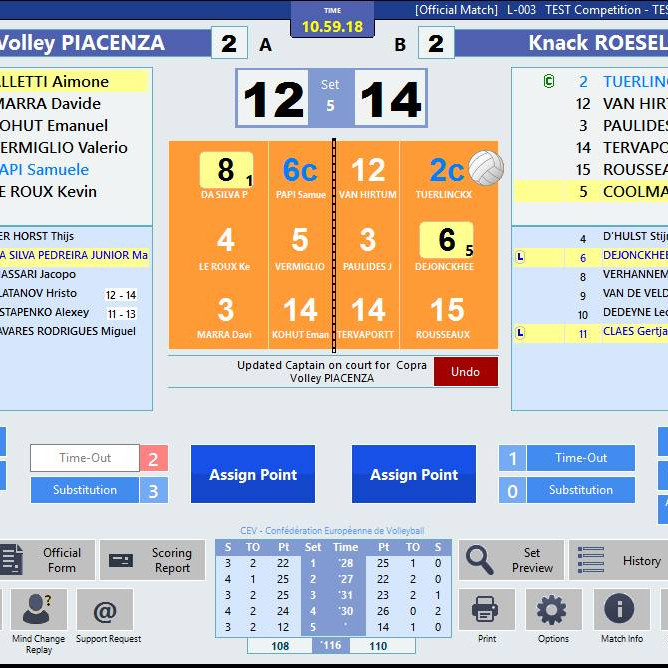 Get into Electronic Volleyball scoring