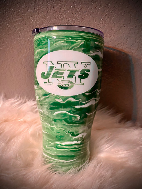 Jets Inspired Tumbler