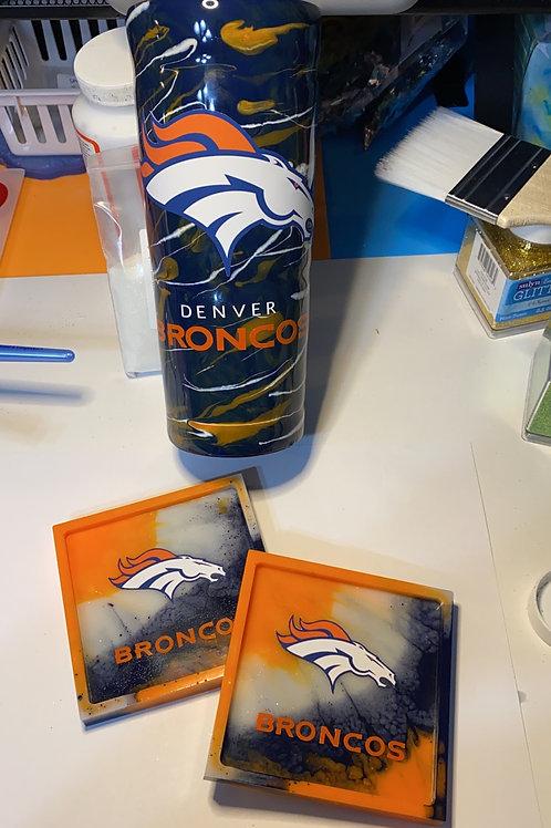 Broncos Inspired Tumblers