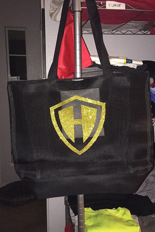 Heights Logo Black Net Bag