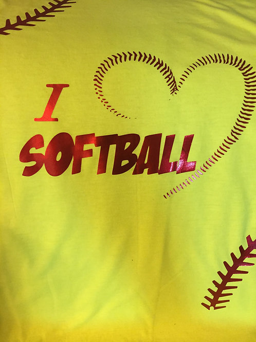 Love Softball Tee