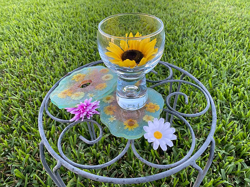 Wildflower Resin Coaster Set