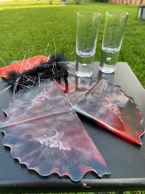 Red/Black/Gray Coaster Set