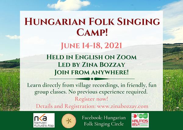 Virtual Hungarian Folk Singing Camp June