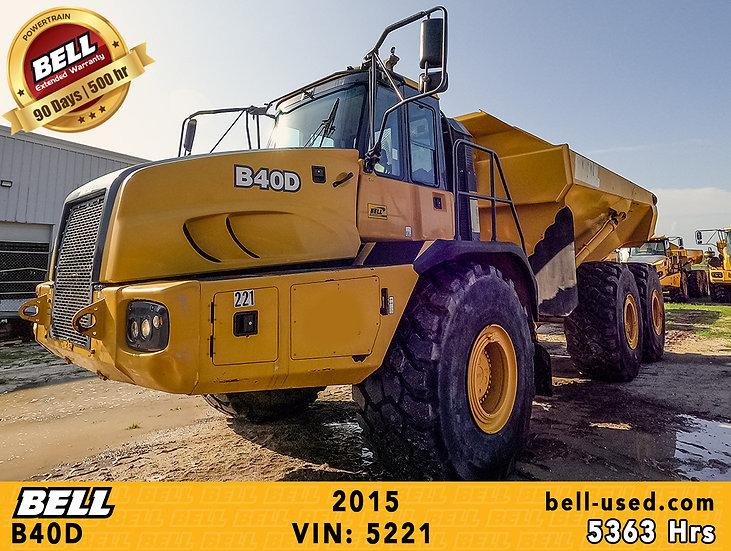 used Bell dump truck B40D