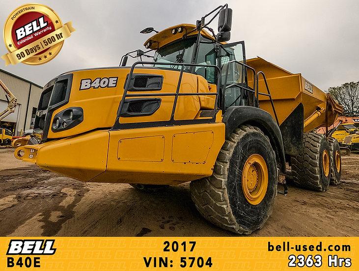 used Bell dump truck B40E