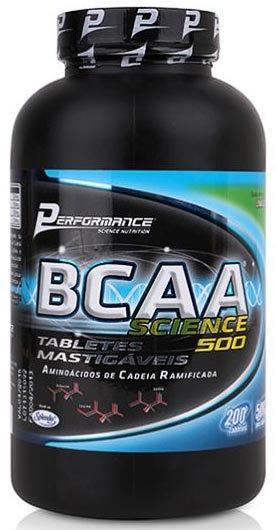 BCAA Science 500 Mastigáveis 200TABS - Performance