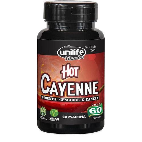 Hot Cayenne (Pimenta, Gengibre e Canela) 60 Cápsulas 500mg - Unilife