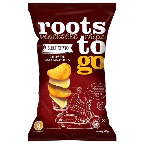 CHIPS DE BATATA DOCE 45G - ROOTS TO GO