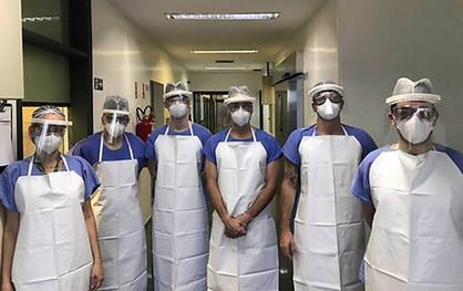 Voluntários da Rhodia de Paulínia doam insumos para produção de 2 mil protetores faciais hospitalare