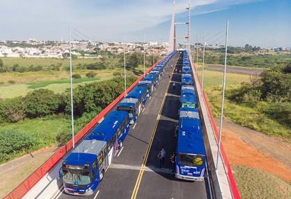 Paulínia e mais três municípios serão beneficiados com frota de 140 ônibus