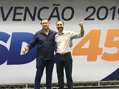 Du Cazellato é candidato a prefeito e Sargento Camargo vice