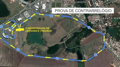 Para garantir segurança dos ciclistas, entorno do Parque Brasil 500 será interditado em dias de prov