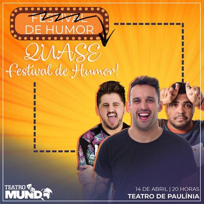 """Theatro de Paulínia recebe o Stand Up """"Quase um Festival de Humor"""""""