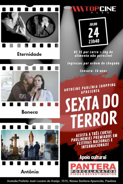 """Autocine Paulínia exibirá três curtas em """"Sexta do Terror"""""""