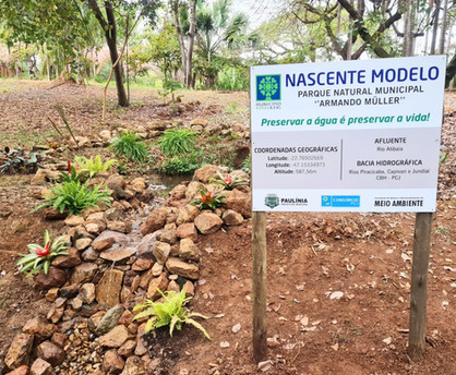 """Nascente Modelo"" é inaugurada no Parque Natural ""Armando Muller"""