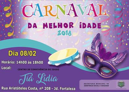 Centro de Convivência da Melhor Idade realiza Baile de Carnaval