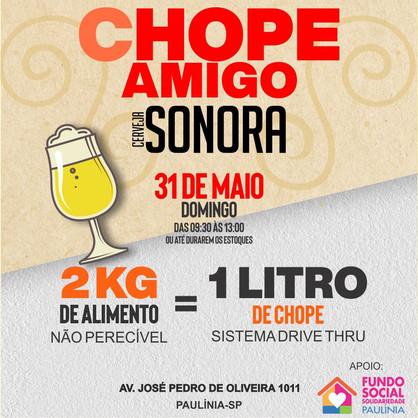 Cervejaria de Paulínia faz campanha solidária e troca alimentos por chopp neste domingo (31)
