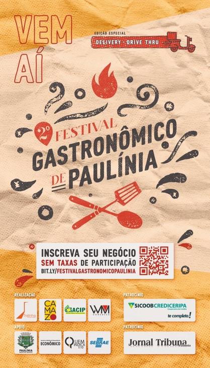 2º Festival Gastronômico de Paulínia acontecerá em formato Delivery e Drive Thru