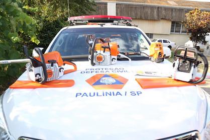 Defesa Civil de Paulínia adquire equipamentos para auxiliar equipes
