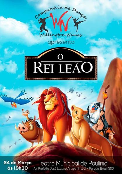 """Espetáculo infantil """"O Rei Leão"""" será apresentado no Theatro Municipal"""
