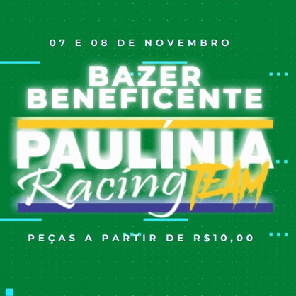 Bazar Beneficente do Paulínia Racing Team terá peças a partir de R$10