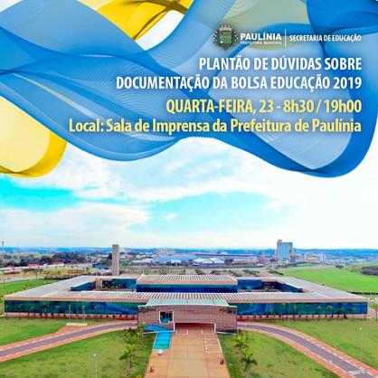"""""""Plantão de Dúvidas"""" do programa Bolsa Educação 2019 ocorre nesta quarta (23)"""