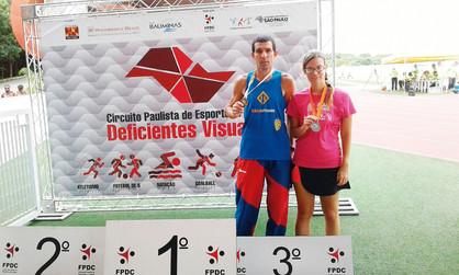 Atletas paulineneses conquistam medalhas no Circuito Paulista de Esportes para Deficientes Visuais