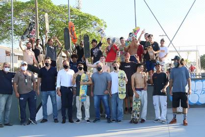 Prefeitura inaugura pista de skate no bairro José Paulino Nogueira
