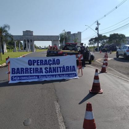 Barreiras sanitárias nas principais entradas do município seguem até domingo (4)