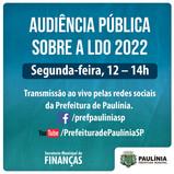 Prefeitura realiza Audiência Pública sobre a LDO