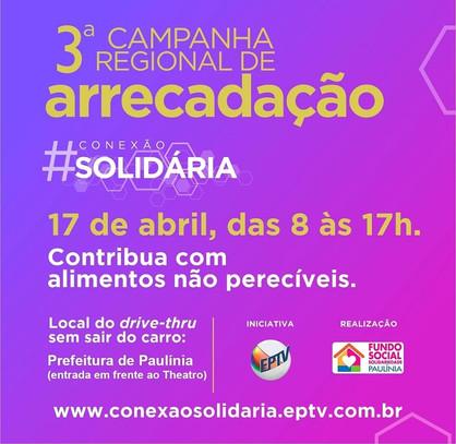 """Paulínia participa neste sábado (17) da Campanha  """"Conexão Solidária"""""""