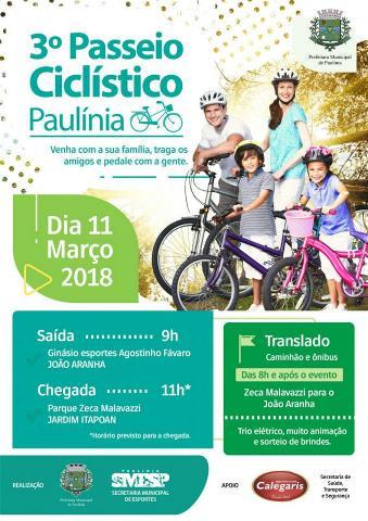 Tradicional Passeio Ciclístico de Paulínia será realizado neste domingo