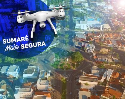 Drones estão sendo usados para monitorar estabelecimentos abertos e circulação de pessoas em Sumaré