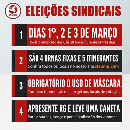 Sindicato dos Servidores Públicos decide novas datas para eleição