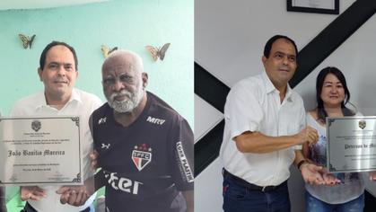 João Basílio e Peterson de Mello são reconhecidos como Cidadãos Paulinenses