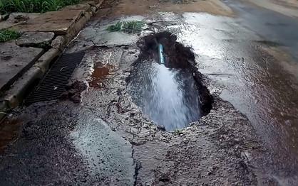 Bairros de Paulínia são prejudicados com desabastecimento devido à vazamento de água