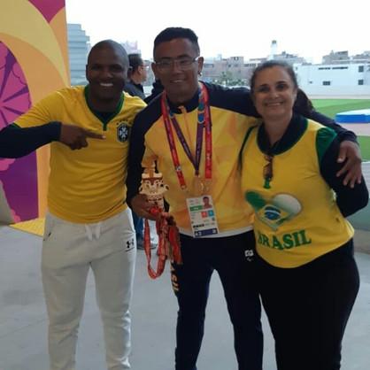 Agnaldo Francisco é ouro no Parapan no Peru