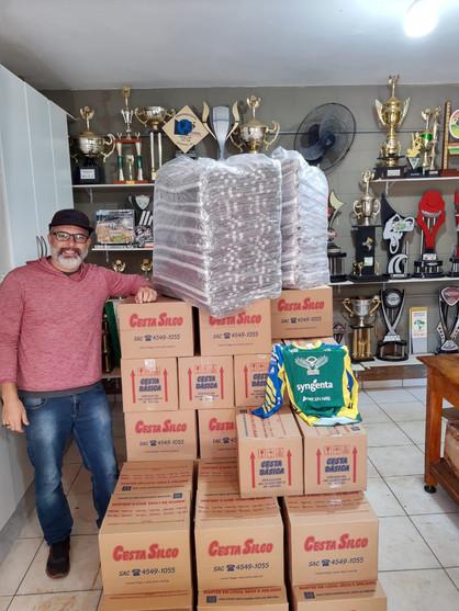 Projeto Social do Paulínia Racing Bicicross recebe doação de cestas básicas da Braskem