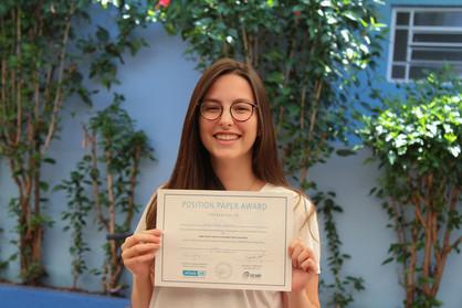 Estudante paulinense é premiada em simulação da ONU