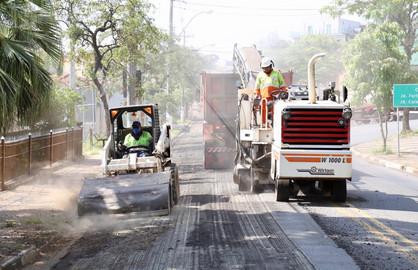 Prefeitura inicia obras de recapeamento da Rua São Bento