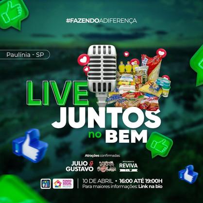 """Políticos se unem na campanha """"Juntos no BEM"""", com shows virtuais e arrecadação de alimentos"""