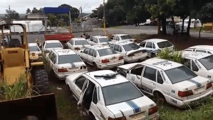 Bandidos invadem barracão da Prefeitura e roubam diversos itens de veículo