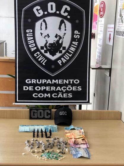 Grupamento de Operações com Cães apreende drogas no Morro Alto