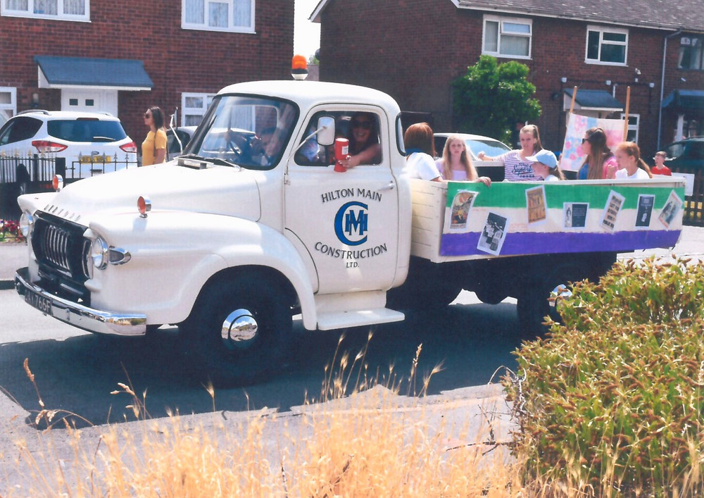 Hilton Main Construction West Midlands prized Bedford truck at Essington Carnival