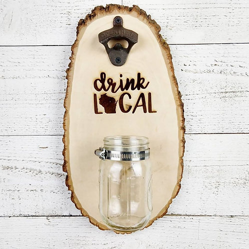 Wood Burned Bottle Opener