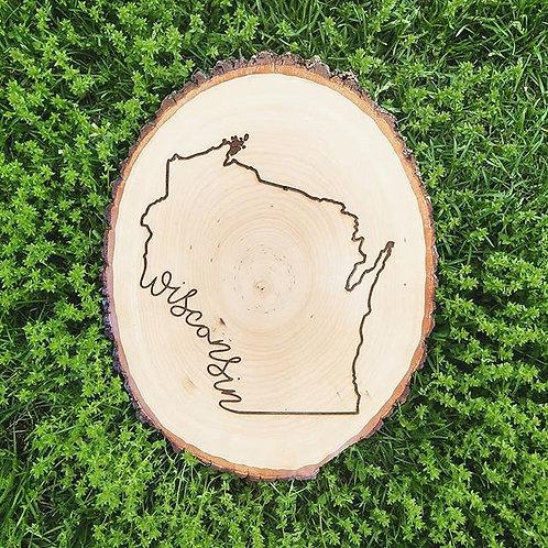 Wisconsin Natural Wood Slice